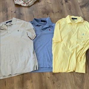 Three men's Large polos in brand new condition